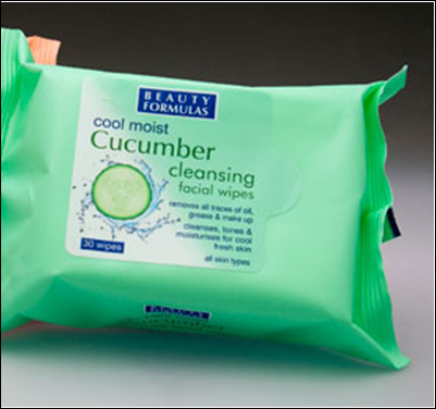 Beauty Formulas Cucumber Cleansing Facial Wipes 30's