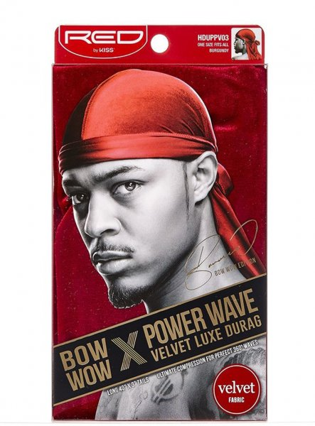 Red By Kiss: Power Wave Velvet Durag - Burgundy (HDUPPV03)